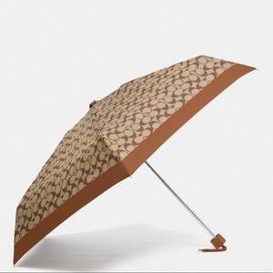NWT Coach Women's Signature Mini Umbrella